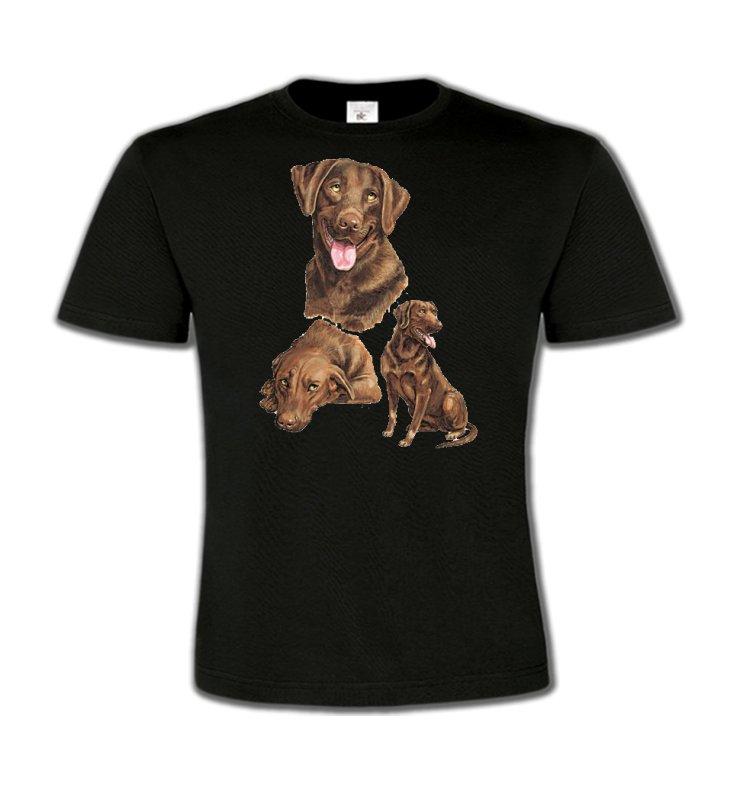 T-Shirts Col Rond EnfantsLabradorLabrador chocolat  (F)