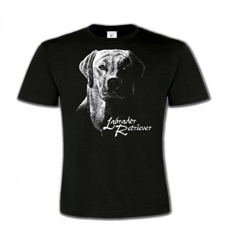 T-Shirts Col Rond EnfantsLabradorLabrador noir et blanc (H)