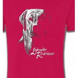 T-Shirts Races de chiens Labrador noir et blanc (H)