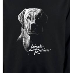 Sweatshirts Races de chiens Labrador noir et blanc (H)