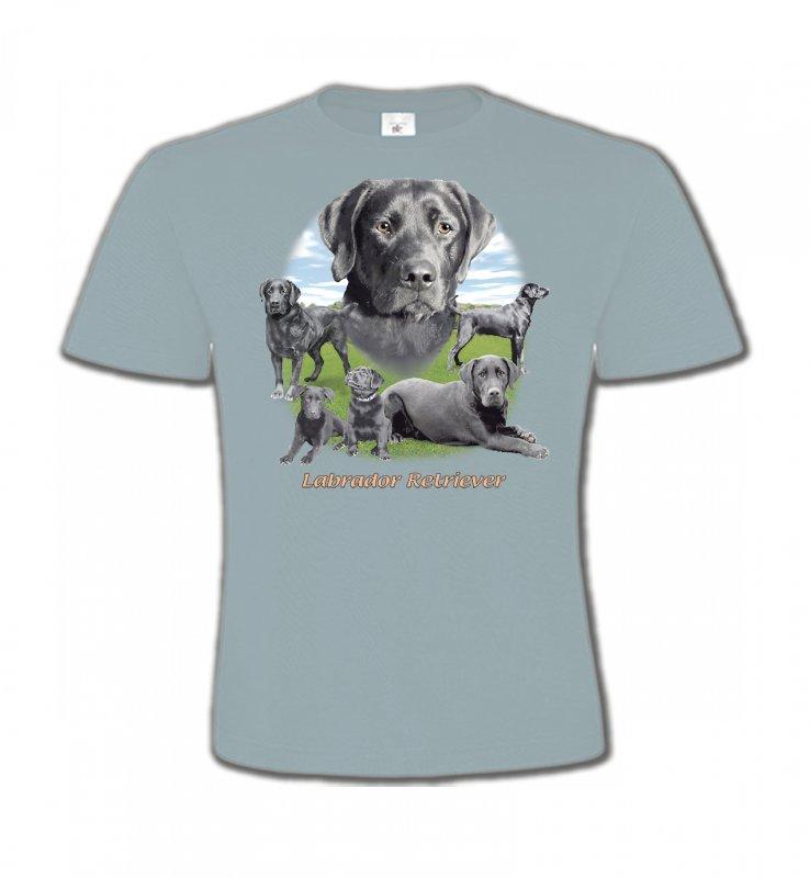 T-Shirts Col Rond EnfantsLabradorLabrador paysage gris paysage (O)