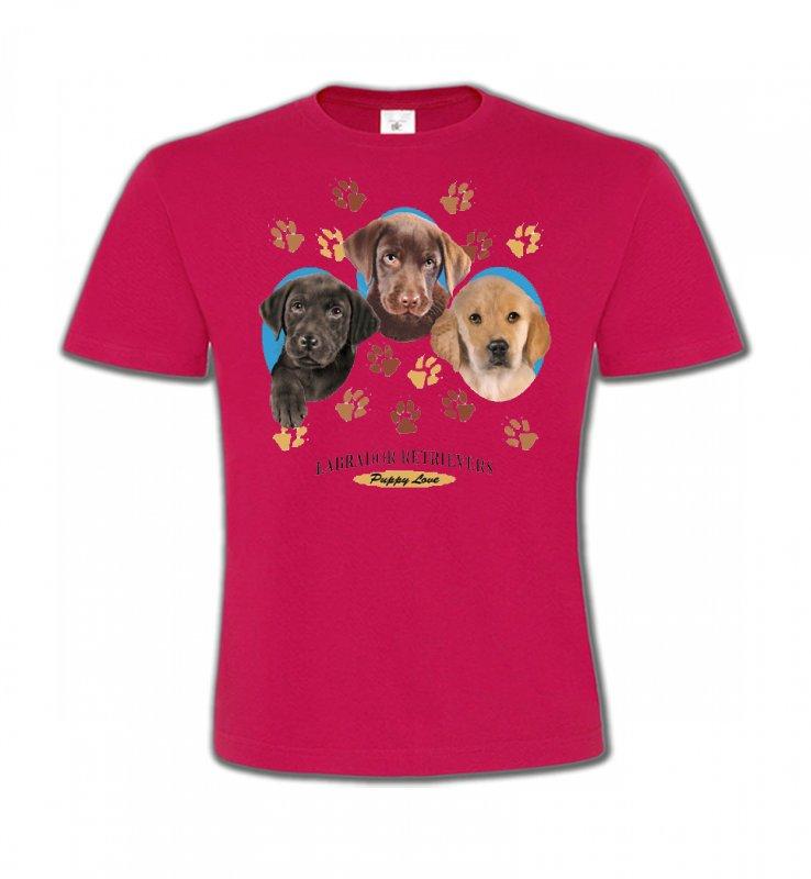 T-Shirts Col Rond EnfantsLabradorBébés Labradors (U)