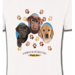 T-Shirts Races de chiens Bébés Labradors (U)