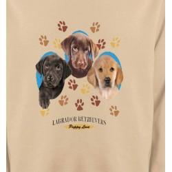 Sweatshirts Races de chiens Bébés Labradors (U)