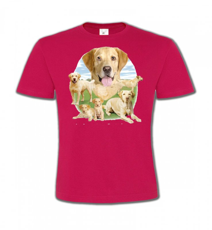 T-Shirts Col Rond EnfantsLabradorLabrador paysage sable  (R)