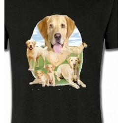 T-Shirts Races de chiens Labrador paysage sable  (R)