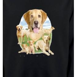 Sweatshirts Races de chiens Labrador paysage sable  (R)