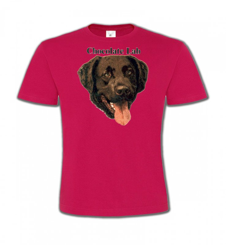 T-Shirts Col Rond EnfantsLabradorTête de Labrador chocolat (W)