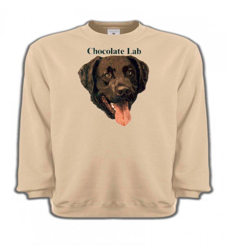 Sweatshirts EnfantsLabradorTête de Labrador chocolat (W)