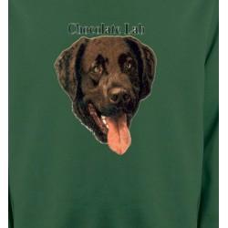 Sweatshirts Races de chiens Tête de Labrador chocolat (W)
