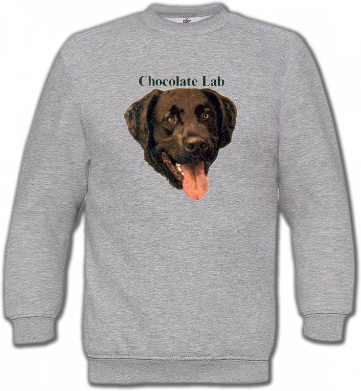 Sweatshirts UnisexeLabradorTête de Labrador chocolat (W)