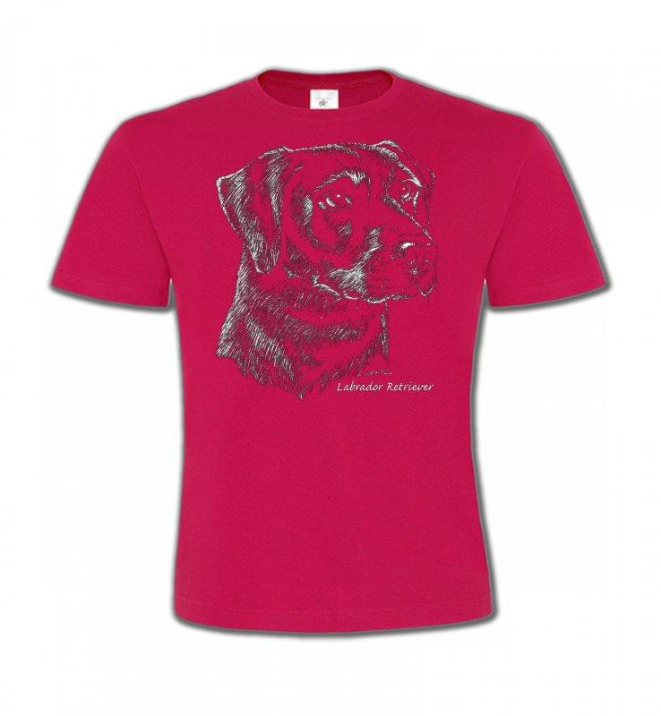 T-Shirts Col Rond EnfantsLabradorLabrador noir  (X)