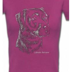 T-Shirts Races de chiens Labrador noir  (X)