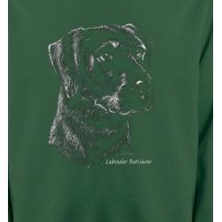Sweatshirts Races de chiens Labrador noir  (X)