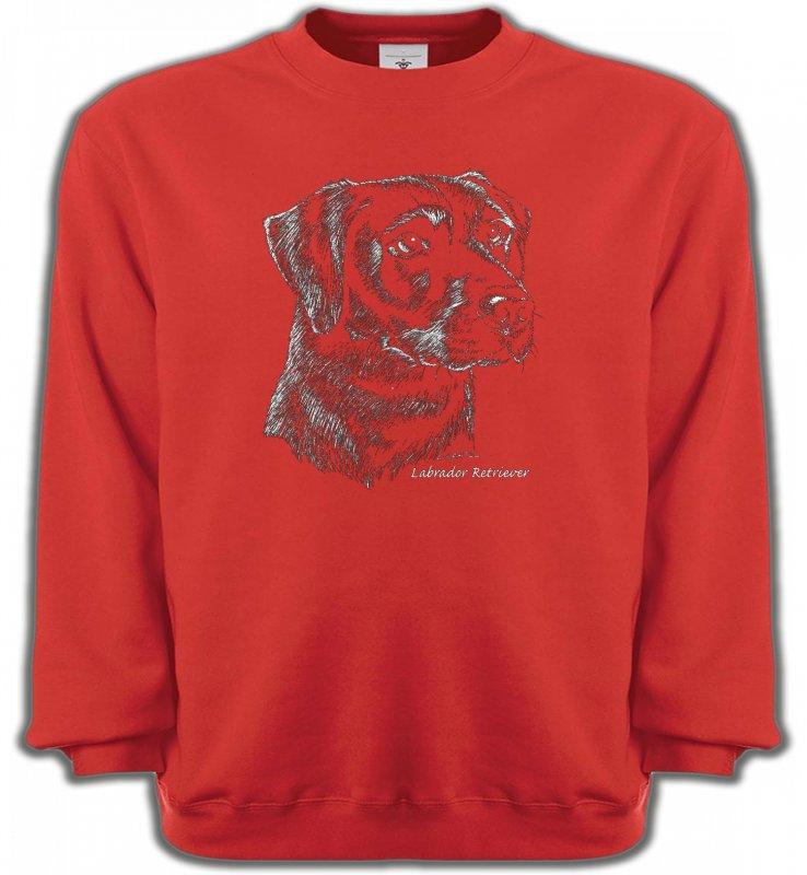 Sweatshirts UnisexeLabradorLabrador noir  (X)