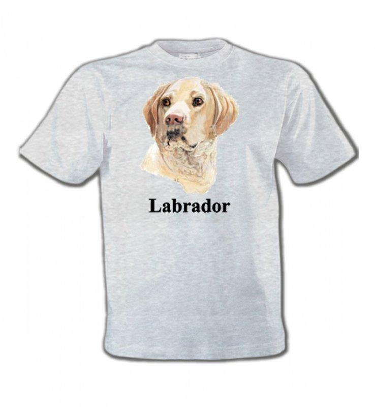 T-Shirts Col Rond EnfantsLabradorTête de Labrador sable  (S)