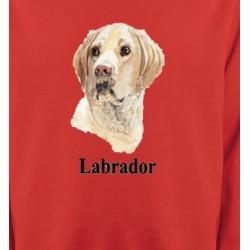 Sweatshirts Races de chiens Tête de Labrador sable  (S)