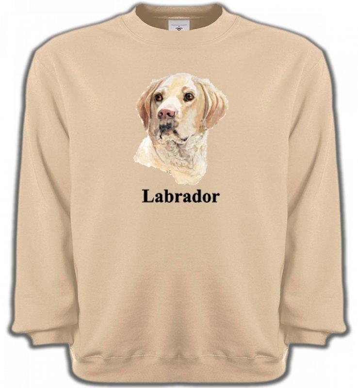 Sweatshirts UnisexeLabradorTête de Labrador sable  (S)