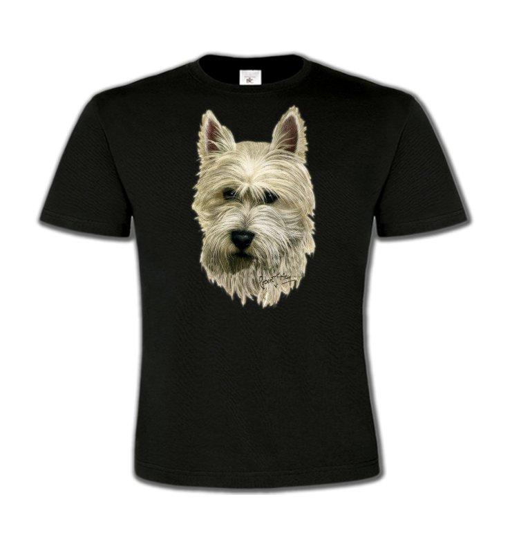 T-Shirts Col Rond EnfantsWestieTête de Westie  (C)