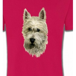 T-Shirts Races de chiens Tête de Westie  (C)