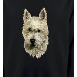 Sweatshirts Races de chiens Tête de Westie  (C)
