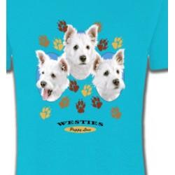T-Shirts Races de chiens Westies pattes de chiens  (D)