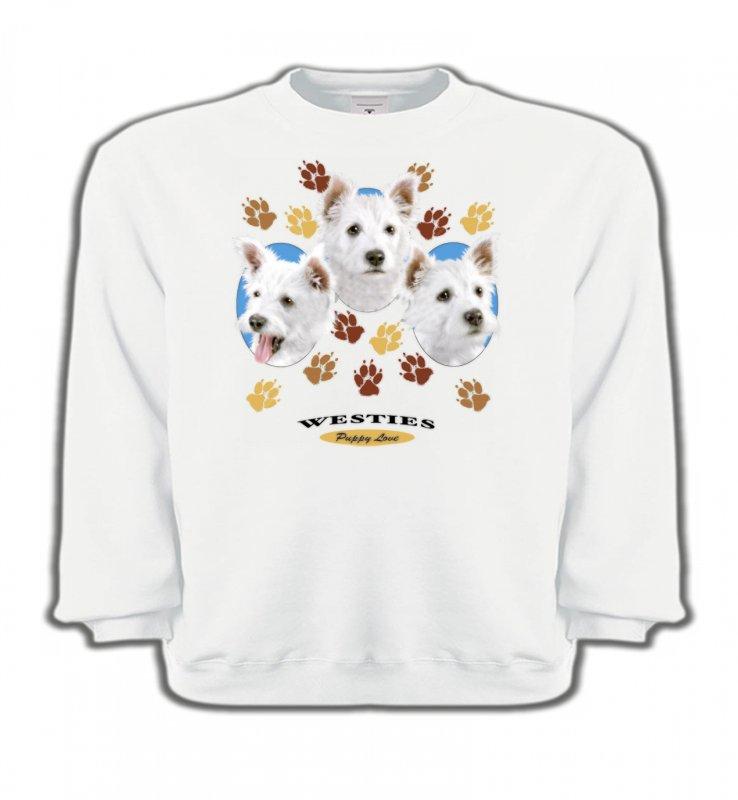 Sweatshirts EnfantsWestieWesties pattes de chiens  (D)