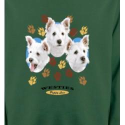 Sweatshirts Races de chiens Westies pattes de chiens  (D)