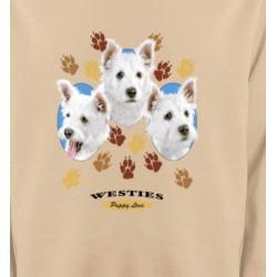 Sweatshirts Sweatshirts Unisexe Westies pattes de chiens  (D)