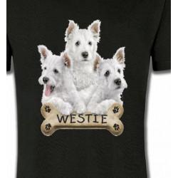 T-Shirts Races de chiens Westie (E)