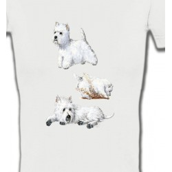 T-Shirts Races de chiens Westie (H)