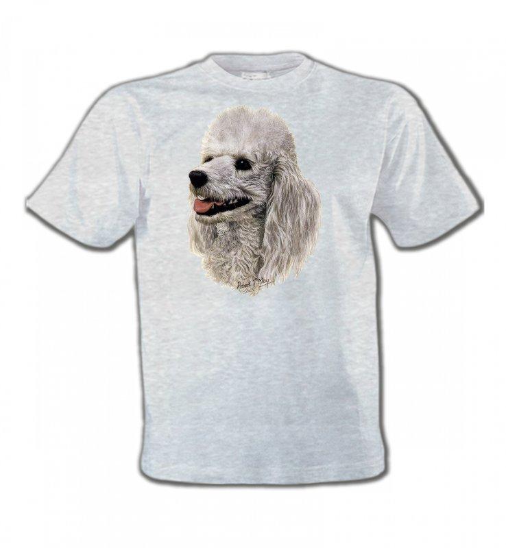 T-Shirts Col Rond EnfantsCanichesTête de Caniche (D)