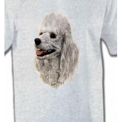T-Shirts Races de chiens Tête de Caniche (D)