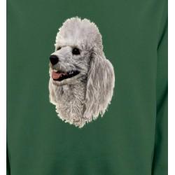 Sweatshirts Races de chiens Tête de Caniche (D)