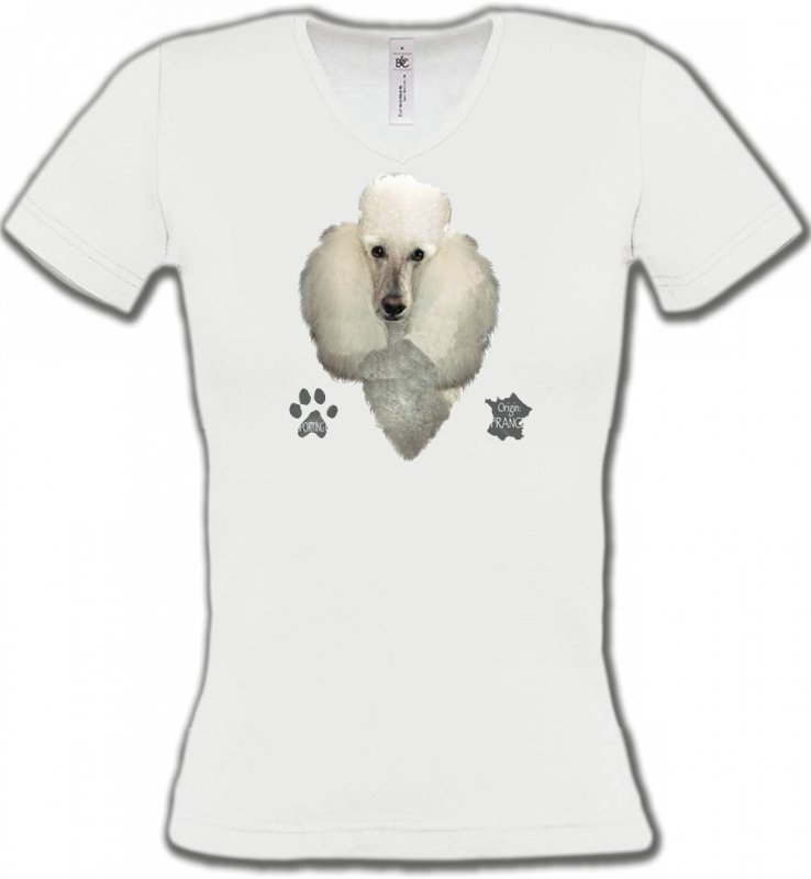 T-Shirts Col V FemmesCanichesCaniche (E)