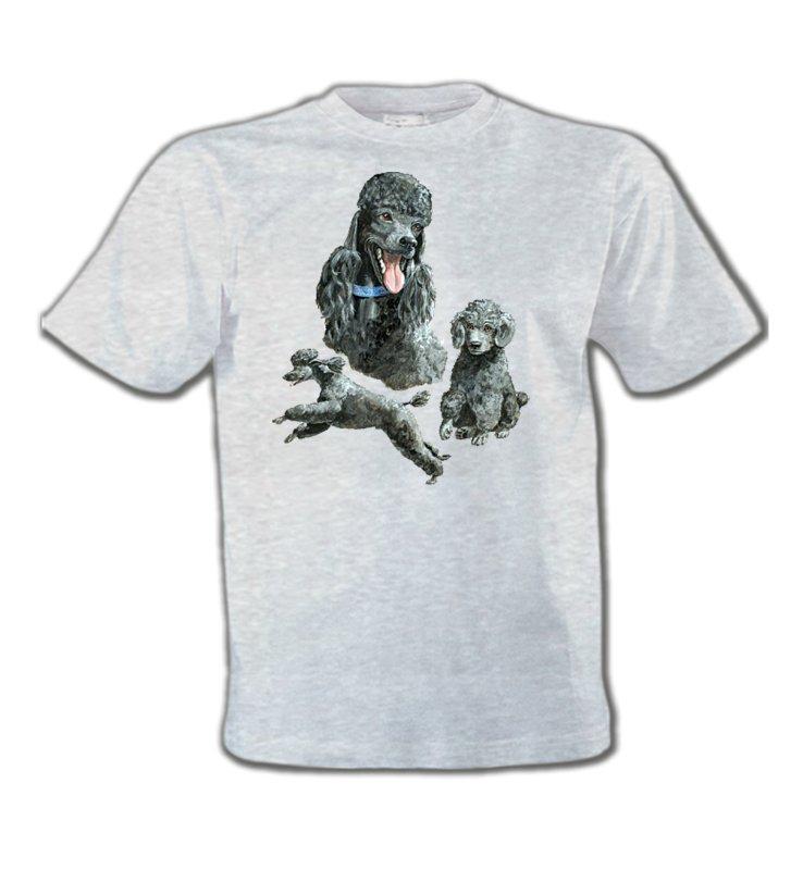 T-Shirts Col Rond EnfantsCanichesCaniche gris (L)