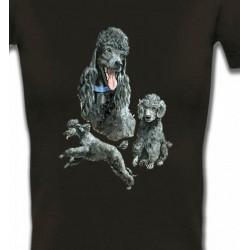 T-Shirts Races de chiens Caniche gris (L)