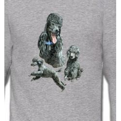 Sweatshirts Races de chiens Caniche gris (L)