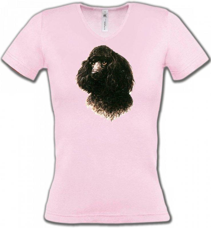 T-Shirts Col V FemmesCanichesCaniche (M)