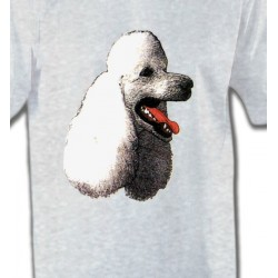 T-Shirts Races de chiens Tête de caniche (F)