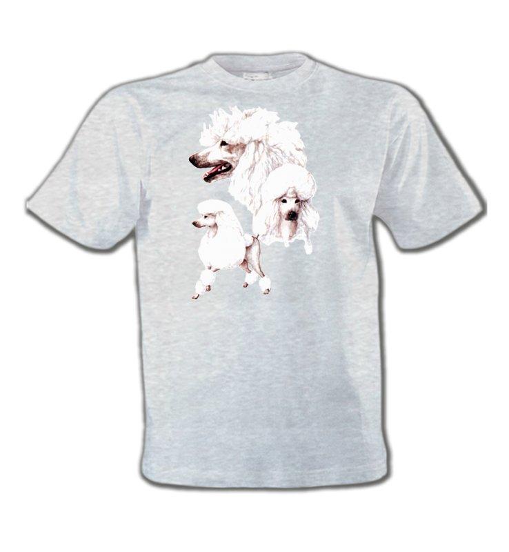 T-Shirts Col Rond EnfantsCanichesCaniche blanc (N)