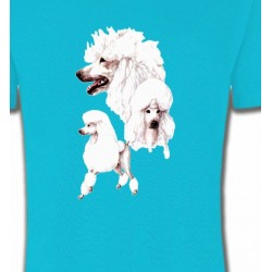 T-Shirts Races de chiens Caniche blanc (N)
