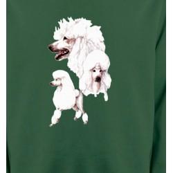 Sweatshirts Races de chiens Caniche blanc (N)