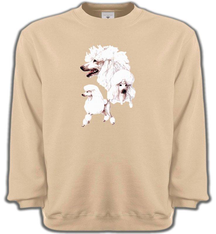 Sweatshirts UnisexeCanichesCaniche blanc (N)