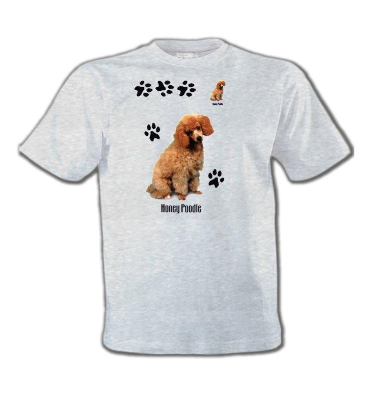T-Shirts Col Rond EnfantsCanichesCaniche miel  (P)