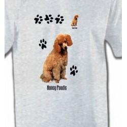 T-Shirts Races de chiens Caniche miel  (P)