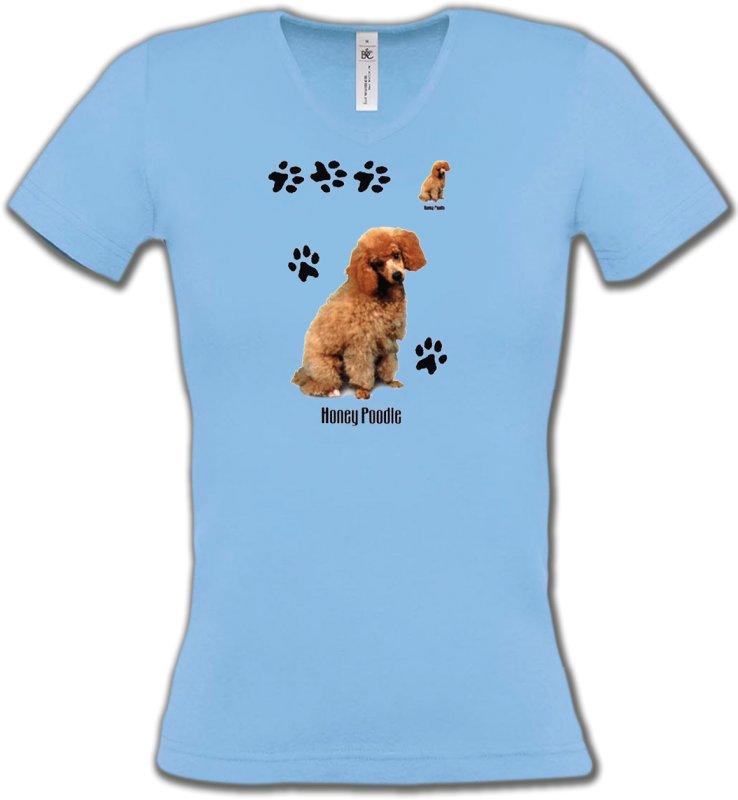 T-Shirts Col V FemmesCanichesCaniche miel  (P)
