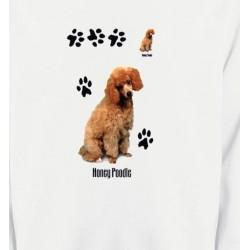 Sweatshirts Races de chiens Caniche miel  (P)