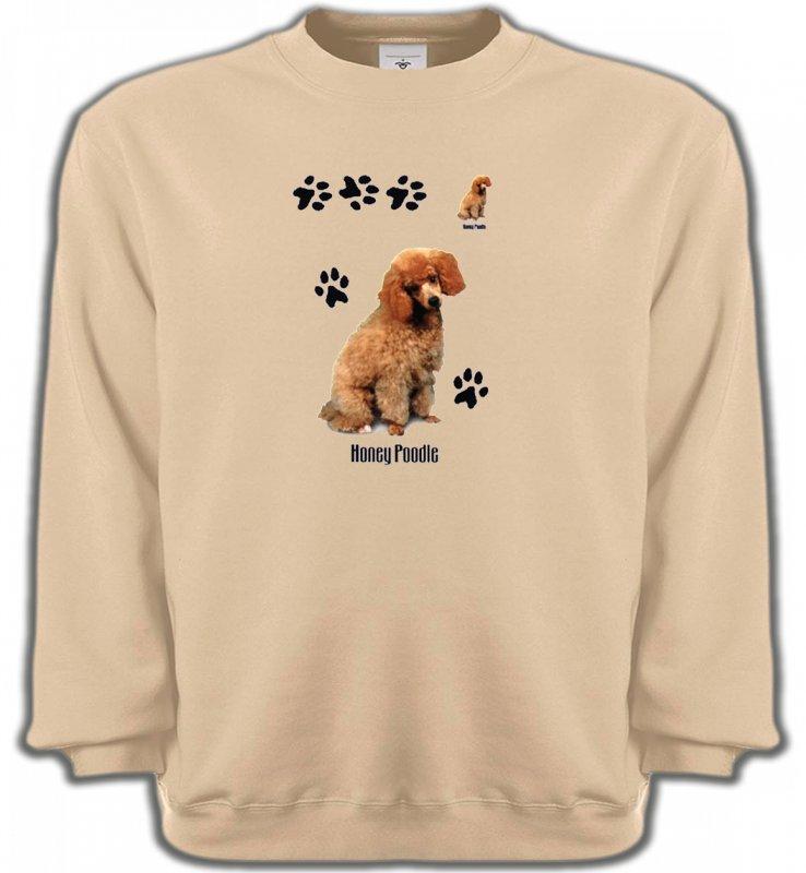 Sweatshirts UnisexeCanichesCaniche miel  (P)