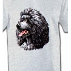 T-Shirts Races de chiens Caniche noir (Q)